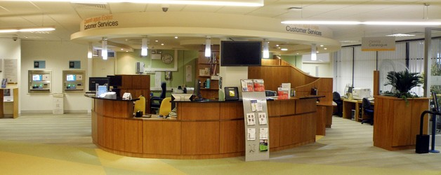 Reception Area, James Hardiman Library, NUIG Galway